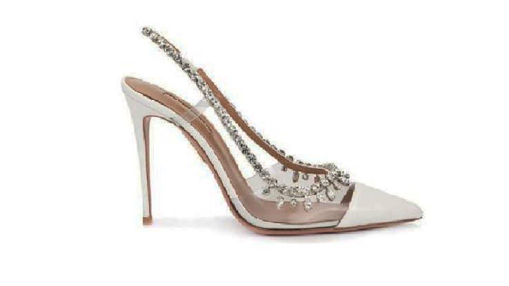 أحذية كعب فخمة شفافة