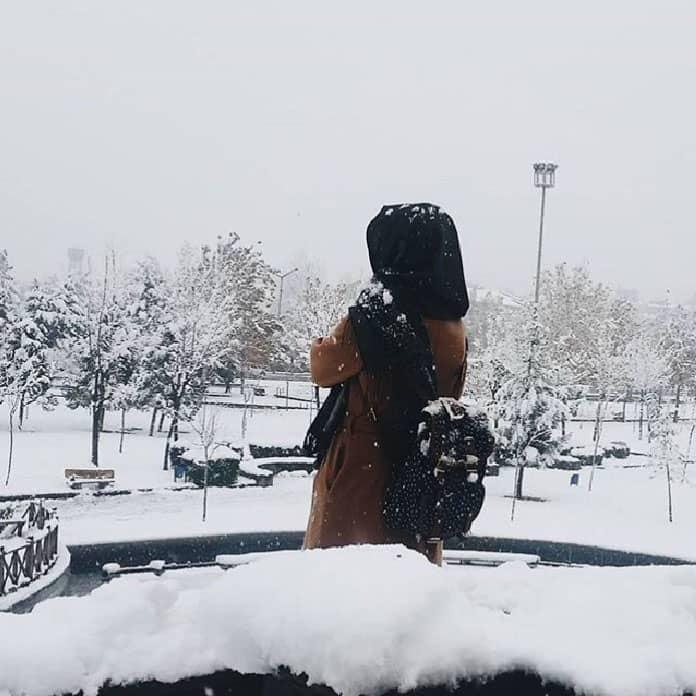 حجاب سميك للأيام الباردة