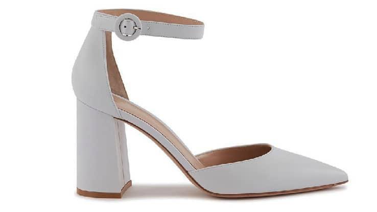 حذاء عروس مع كعب كتلة