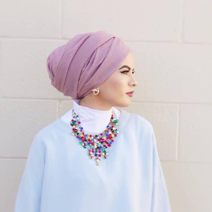ستايل-الحجاب-على-شكل-عمامة