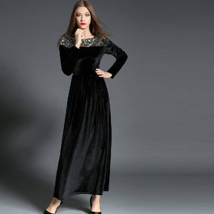 فستان-أسود-منمق
