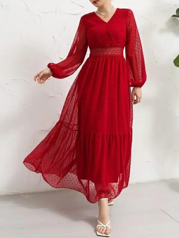 فستان سواريه أحمر