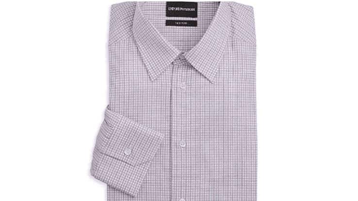 قمصان رجالي كلاسيك كاروهات من إمبوريو أرماني