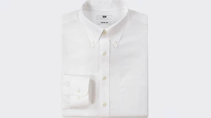 قميص Uniqlo Easy Care بأكمام طويلة