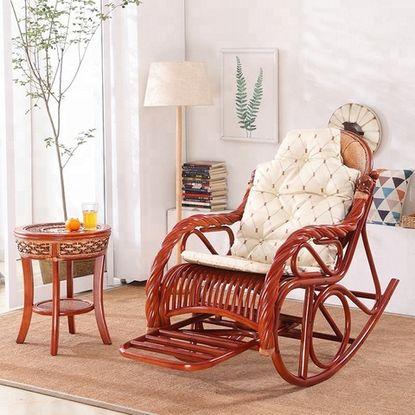 كرسي هزاز خشب من الخيزران