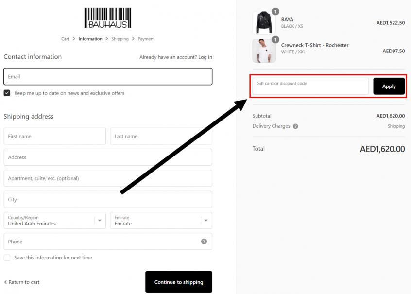 How to use my Bauhaus coupons, Bauhaus promo codes & Bauhaus offers