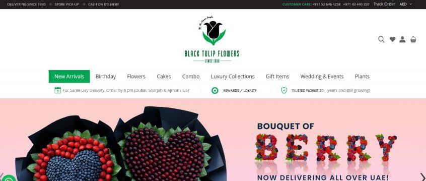 Black Tulip Flowers.com - How to get Tulip Flowers discount codes & Black Tulip Flowers coupons to shop at Black Tulip Flowers Sharjah, Black Tulip Flowers Dubai and more.