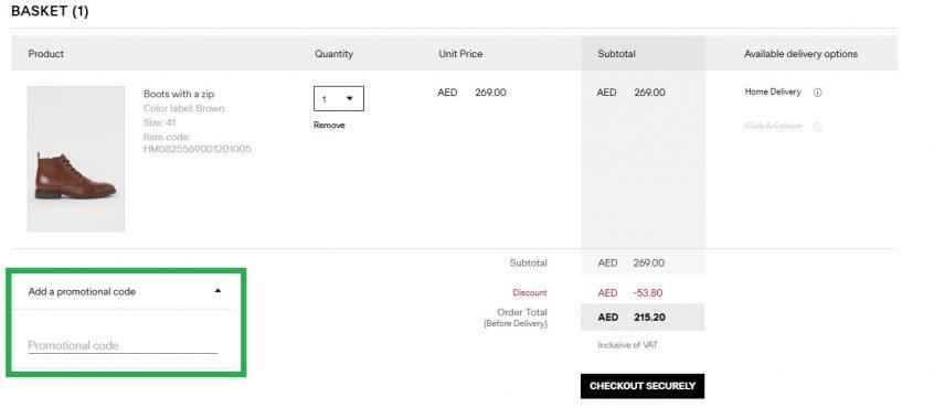 How to use your promo Code on H&M UAE, KSA & Kuwait