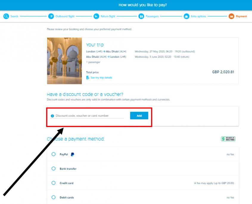 كيف أستخدم كود خصم الخطوط الجوية الهولندية أو كوبون الخطوط الجوية الهولندية ضمن كوبونات وعروض الخطوط الجوية الهولندية عبر الموفر لحجز رحلات طيران على موقع الخطوط الجوية الهولندية KLM ؟