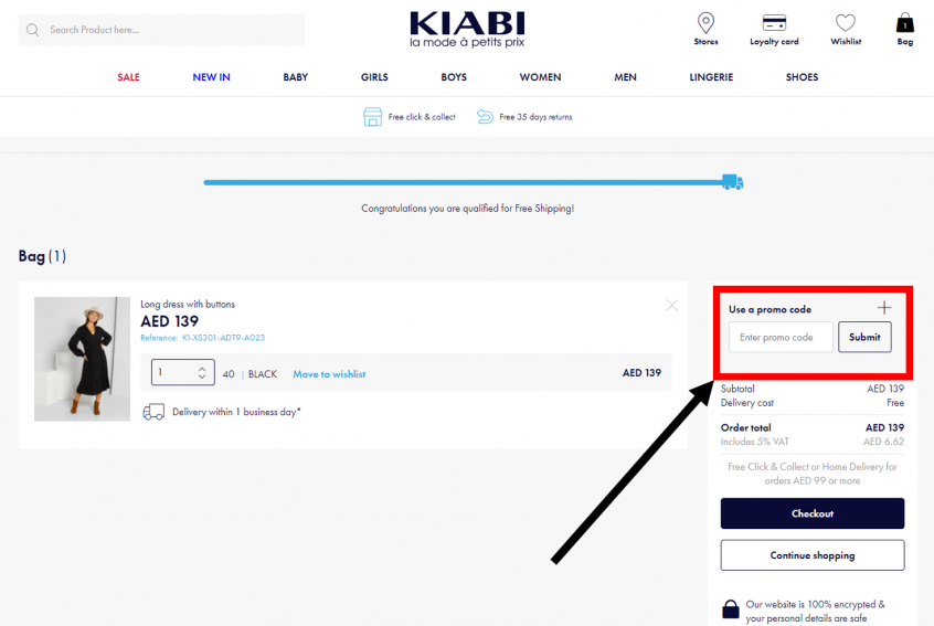 How to use my Kiabi coupons, Kiabi promo codes & Kiabi discount codes to shop online at Kiabi coupons, Kiabi KSA, GCC & Kiabi UAE and save money