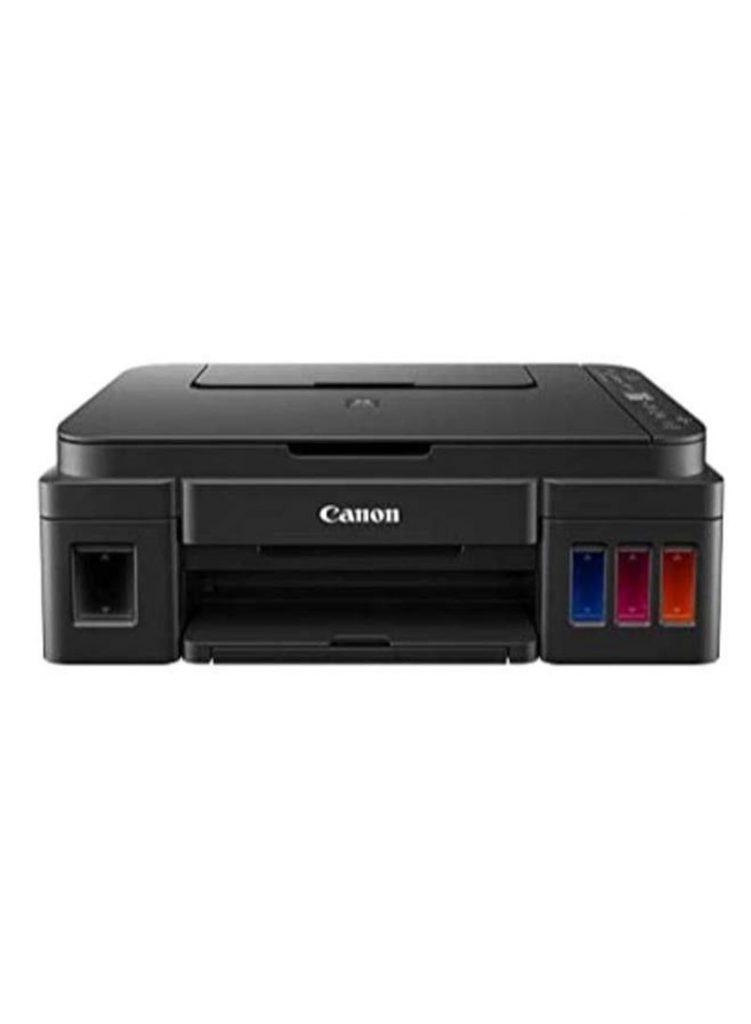 5- طابعة بيكسما متكاملة الكل في واحد بخاصية الطباعة/النسخ/المسح الضوئي/واي فاي - طراز G3411 أسود بسعر : جنيه 2849.00