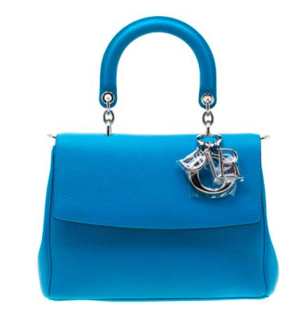 3- حقيبة جلدية ديور بي ديور زرقاء اللون صغير 4475 دولار