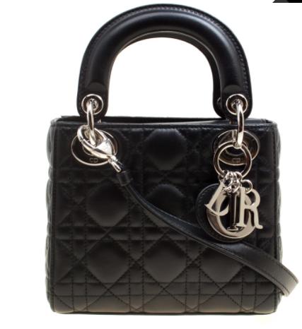 4- حقيبة جلدية ميني يد ديور سوداء اللون 3025 دولار