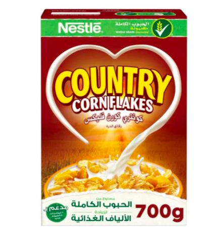 نستلة كونتري كورن فليكس رقائق الفطور مع الشوفان المقرمش 420 جرام