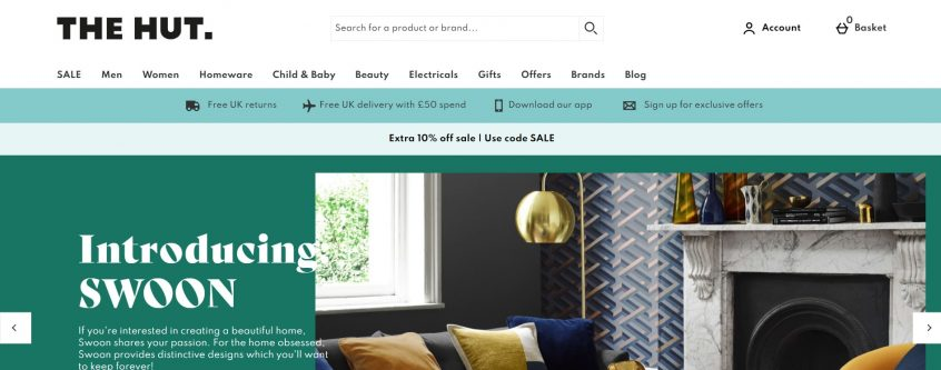 How to use your The Hut discount codes, The Hut promo codes & The Hut vouchers to shop at The Hut UK