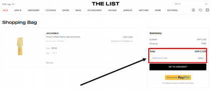 How to use my The List coupons, The List promo codes & The List offers to shop online