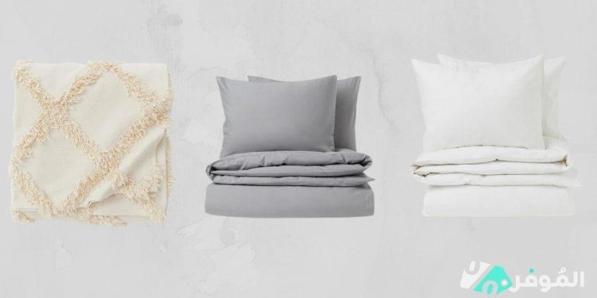 مفرش سرير مصنوع من القطن الكتان