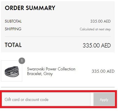 How do I use the Swarovski Coupon on Swarovski UAE and Swarovski KSA?