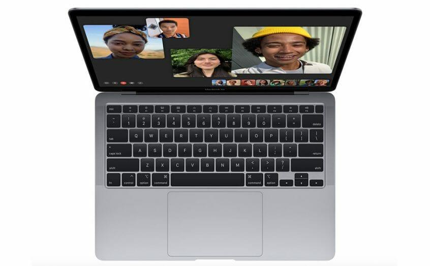 شريحةمميزة من تصميم Apple تقدم  نوعية رفيعة مذهلة في وحدة المعالجة المركزية ووحدة معالجة رسومات الغرافيك , يحتوي هذا الجهاز على وحدة معالجة رسومات الغرافيك مزودة بما يصل إلى ثماني نوى , باءمكانك تأدية جميع مهامك بسرعة وسلاسة وذلك لاحتواءه على ذاكرة موحدة سعتها 8GB .