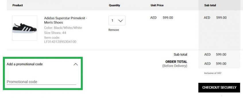How do I use Footlocker Promo code to buy Footlocker Shoes from Footlocker UAE, KSA & Kuwait?