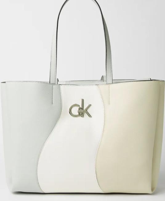 حقيبة حمل مزينة برقعة مع حافظة لابتوب مرقع من كالفن كلاين