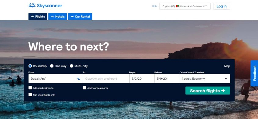 Skyscanner offers & Skyscanner Coupon Code on Almowafir Skyscanner flights for Skyscanner UAE & Skyscanner KSA