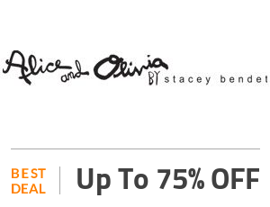 Alice And Olivia Deal: Up to 75% OFF New Season Styles + Free Shipping Off