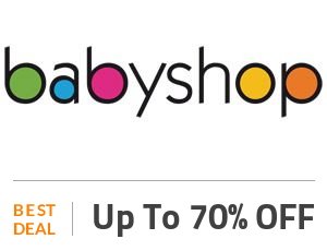 Baby Shop Deal: Baby Shop Monday Sale: Get Up to 70% + 15% Sitewide Off