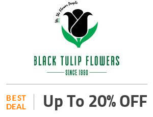 Black Tulip Flowers Deal: Get Up to 20% OFF on Fresh Flowers Off
