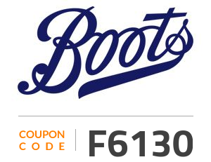 Boots Coupon Code: F6130