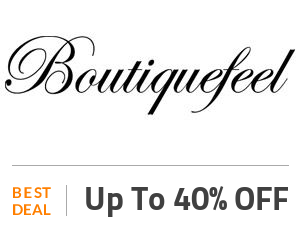 Boutiquefeel Deal: Mid-Year Sale: Buy 3 Get 4th 40% OFF Off