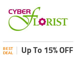 Cyber Florist Deal: Enjoy Up to 15% OFF On Selected Products Off