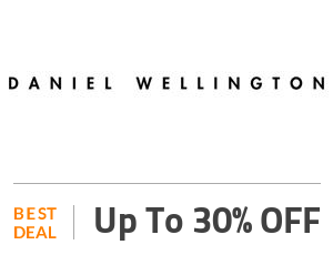 Daniel Wellington Deal: Up to 30% OFF on Your Order Off