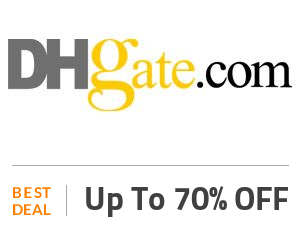 DHgate Deal: 70% Discount On Selected Products Off