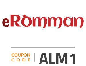 eRomman Coupon Code: ALM1