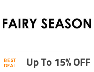 Fairyseason Deal: Anniversary Celebration: Get Up to 15% OFF Off