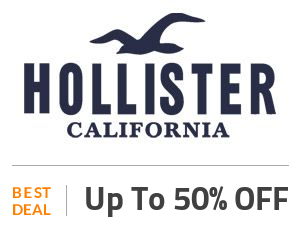 Hollister Deal: Up to 50% Off Select Styles Off