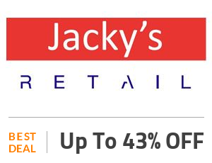 Jacky's Retail Deal: Jacky's Limited Offers: Up to 43% OFF + Free Shipping Off