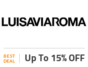 Luisaviarom Deal: Up to 15% OFF on Spring Summer Collections Off