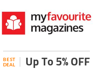 My Favourite Magazines Deal: Shop 5% OFF Sitewide + Free Shipping. Off