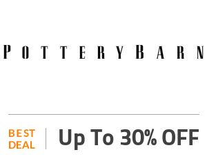 Pottery Barn Deal: Pottery Barn SALE: Up To 30% OFF Sitewide Off