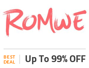 Romwe Deal: Buy 1 Get 1 99% OFF On Everything Off