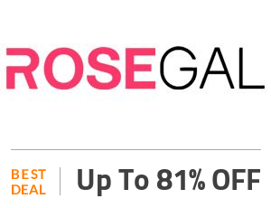 Rosegal Deal: Up to 81% OFF On Outfits Off