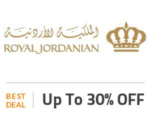 Royal Jordanian Deal: Book Flight Tickets & Enjoy 30% OFF On Travel Extras Off