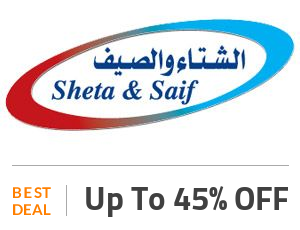 Sheta and Saif Deal: Get Up to 45% OFF SiteWide Off