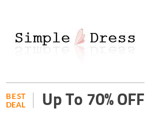 Simple-dress Deal: Simple Dress Offer: Get Up to 70% OFF SiteWide Off