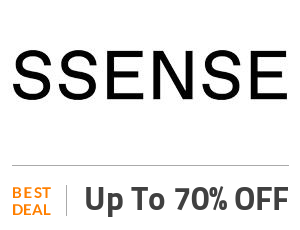 Ssense Deal: Ssense Offer: Get Up to 70% OFF Clothes Off