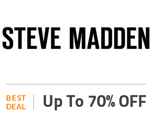 Steven Madden Deal: Steve Madden Sale: Up to 70% OFF Sitewide Off