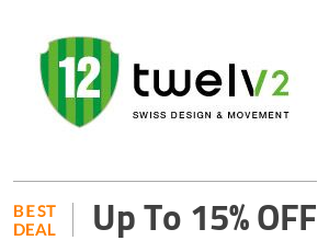 Twelve Watch Deal: Up To 15% on Trendy Watches With Colorful Designs Off