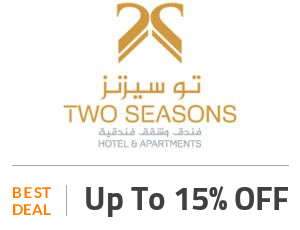 Two Seasons Hotels Deal: Save 15% ON Stays at Two Seasons Hotel&Apartments. Off